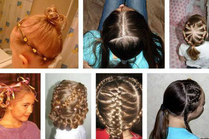 Причёска с резинками для девочек