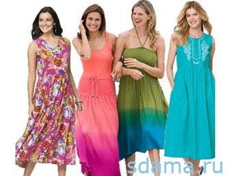 Модные сарафаны и платья