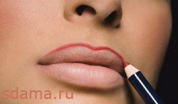 визуально увеличить губы