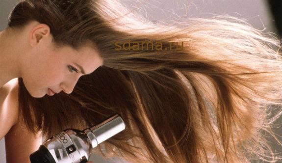 правильно сушить волосы