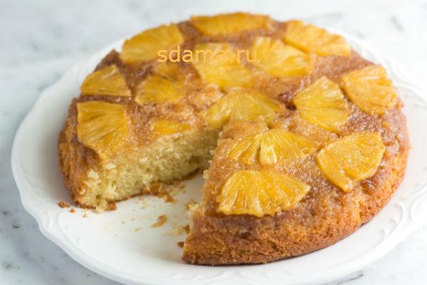 пирог-с-ананасами