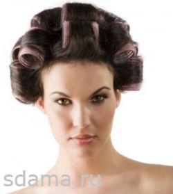 длинные волосы накрутить на бигуди-липучки