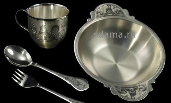 чистить серебро