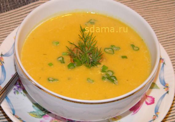 Суп пюре из тыквы, рецепт