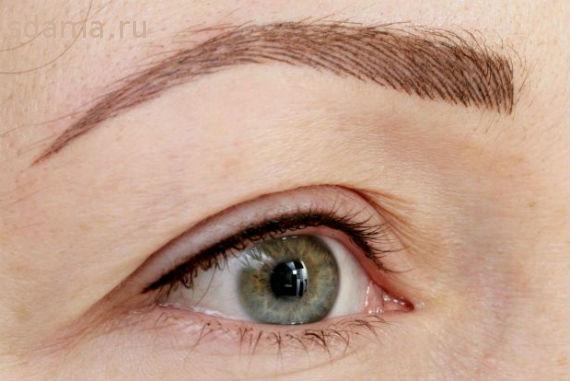 Татуаж бровей волосковый метод, фото