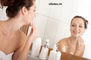 очищать кожу лица